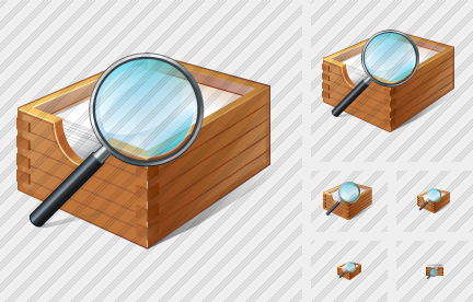 Paper Box Search 2 Icon