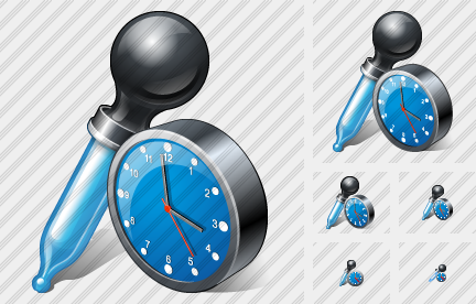 Pipette Clock Icon