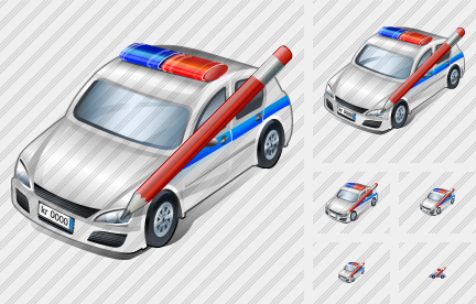 Police Car Edit Icon