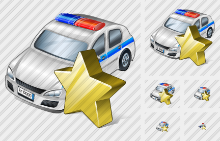 Police Car Favorite Icon