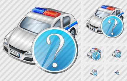 Icône Police Car Question
