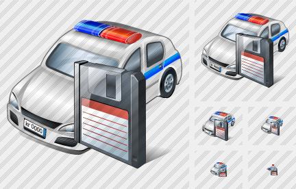 Police Car Save Icon