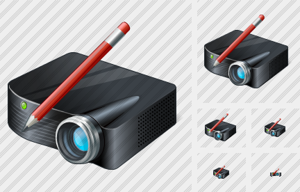 Icône Projector Black Edit