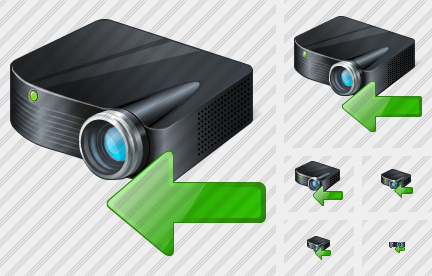 Icône Projector Black Import