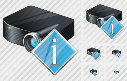 Projector Black Info Icon