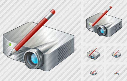 Projector White Edit Icon