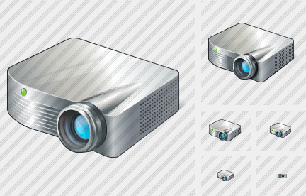 Projector White Icon