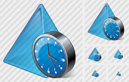 Pyramid Clock Icon
