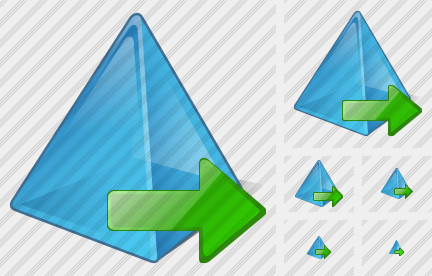 Pyramid Export Icon
