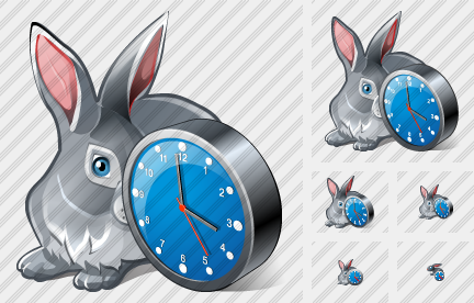 Rabbit Clock Icon