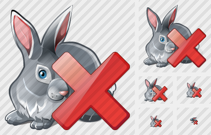 Rabbit Delete Icon