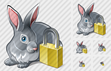 Rabbit Locked Icon