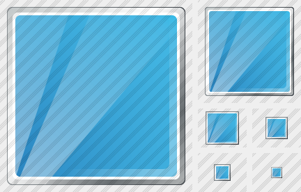 Rectangle Blue Icon