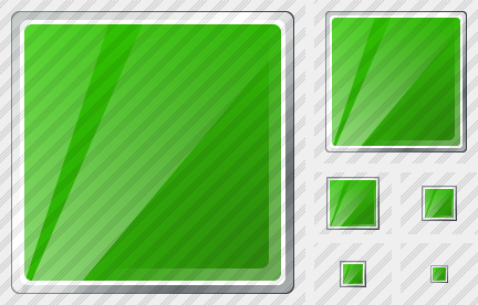 Rectangle Green Symbol