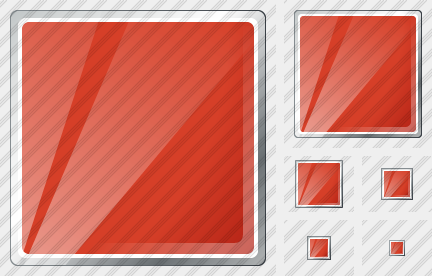Icône Rectangle Red
