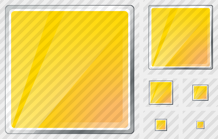Rectangle Yellow Symbol