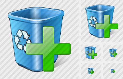 Recycle Bin Add Icon