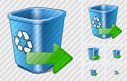 Recycle Bin Export Icon