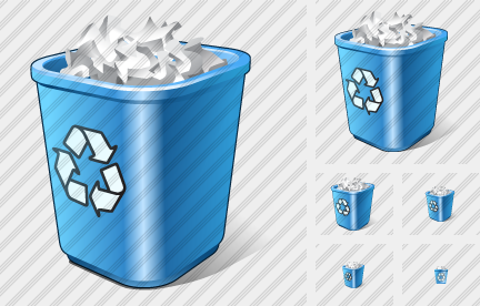 Recycle Bin Full Symbol