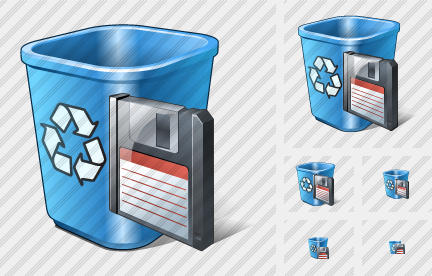 Recycle Bin Save Icon