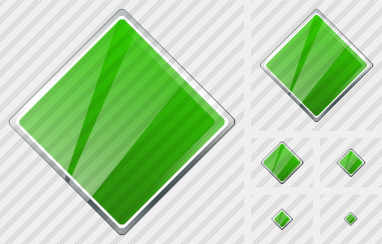 Rhombus Green Icon