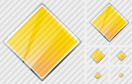 Rhombus Yellow Icon