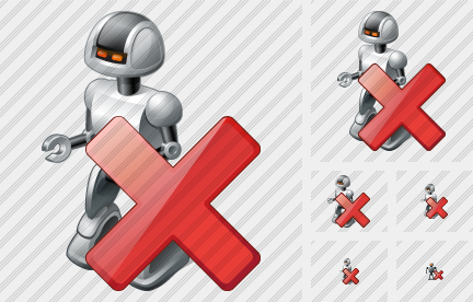 Robot Delete Icon
