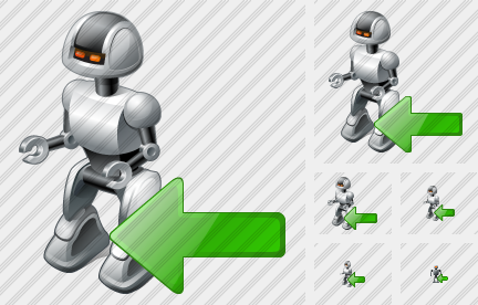 Robot Import Icon