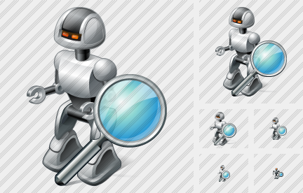 Robot Search Icon