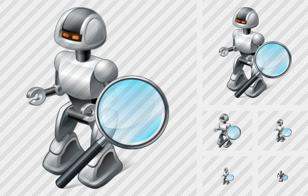 Robot Search 2 Icon