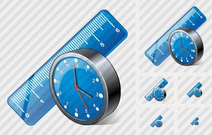 Ruler Clock Icon