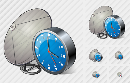 Satellite Plate Clock Icon