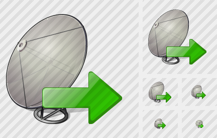 Satellite Plate Export Icon