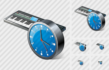 Synthesizer Clock Icon
