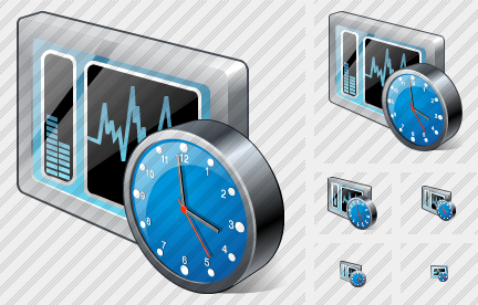 System Control Clock Icon