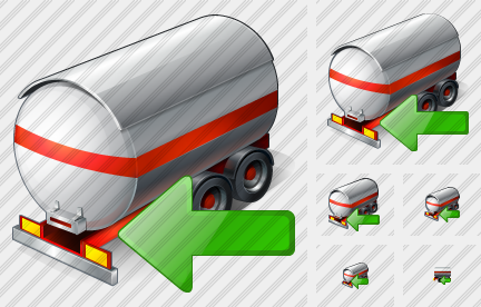 Tank Truck Import Icon