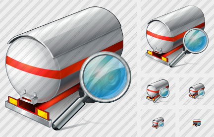 Tank Truck Search Icon