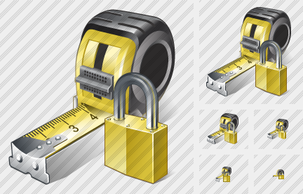 Tape Measure Locked Icon