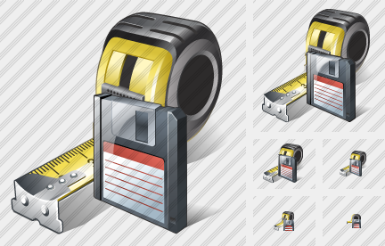Tape Measure Save Icon