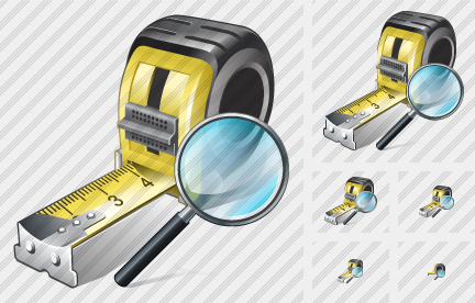 Tape Measure Search 2 Symbol