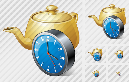 Teapot Clock Icon