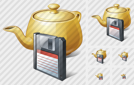 Teapot Save Icon