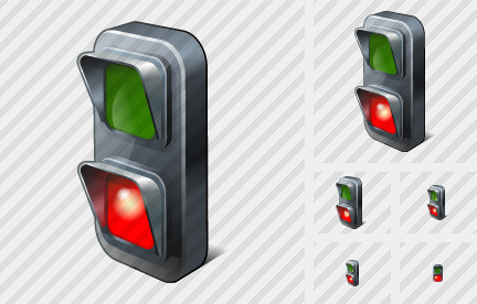 Icône Traffic Lights Red