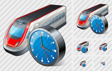 Train Clock Icon
