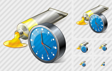Tube Paint Clock Icon