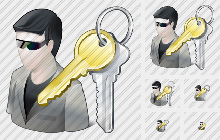 User Admin Sun Glasses Icon