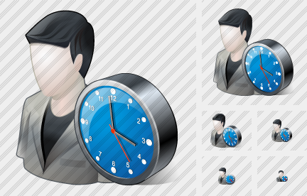 User Clock Icon