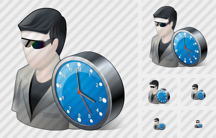 Icône User Sun Glasses Clock