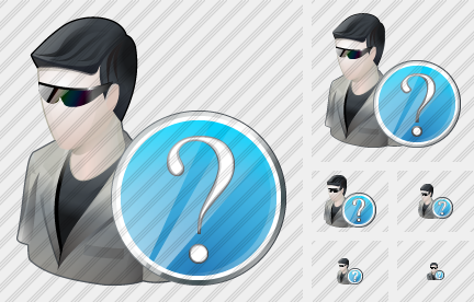 User Sun Glasses Question Icon