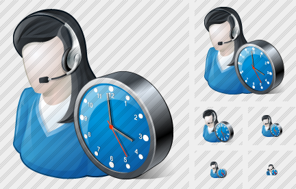 User Support Clock Icon